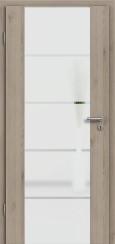 Holzglastür CPL Natural Touch Pinie Silvergrey mit Sandstrahlmotiv SAND 18