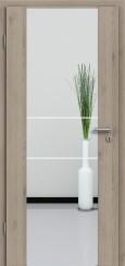 Holzglastür CPL Natural Touch Pinie Silvergrey mit Sandstrahlmotiv SAND 21