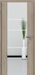 Holzglastür CPL Natural Touch Pinie Silvergrey mit Sandstrahlmotiv SAND 29