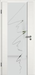 Holzglastür weiss mit Sandstrahlmotiv SAND 36