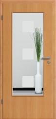 Tür Echtholz furniert Buche mit Sandstrahlmotiv SAND 1