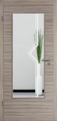Tür CPL gebürstet Akazie Steingrau mit Sandstrahlmotiv SAND 10