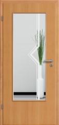Tür Echtholz furniert Buche mit Sandstrahlmotiv SAND 10