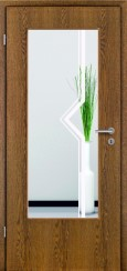 Tür Echtholz furniert Eiche rustikal mit Sandstrahlmotiv SAND 120