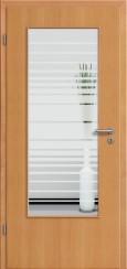Tür Echtholz furniert Buche mit Sandstrahlmotiv SAND 17