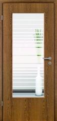 Tür Echtholz furniert Eiche rustikal mit Sandstrahlmotiv SAND 17