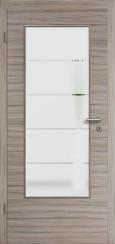 Tür CPL gebürstet Akazie Steingrau mit Sandstrahlmotiv SAND 18