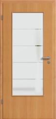 Tür Echtholz furniert Buche mit Sandstrahlmotiv SAND 18