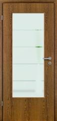 Tür Echtholz furniert Eiche rustikal mit Sandstrahlmotiv SAND 18
