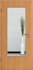 Tür Echtholz furniert Buche mit Sandstrahlmotiv SAND 21