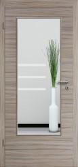 Tür CPL gebürstet Akazie Steingrau mit Sandstrahlmotiv SAND 28