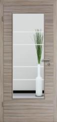 Tür CPL gebürstet Akazie Steingrau mit Sandstrahlmotiv SAND 29