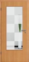 Tür Echtholz furniert Buche mit Sandstrahlmotiv SAND 30