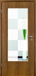 Tür Echtholz furniert Eiche rustikal mit Sandstrahlmotiv SAND 30