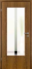 Tür Echtholz furniert Eiche rustikal mit Sandstrahlmotiv SAND 32
