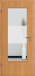 Tür Echtholz furniert Buche mit Sandstrahlmotiv SAND 33