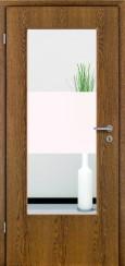 Tür Echtholz furniert Eiche rustikal mit Sandstrahlmotiv SAND 33