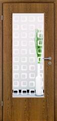 Tür Echtholz furniert Eiche rustikal mit Sandstrahlmotiv SAND 35