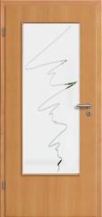 Tür Echtholz furniert Buche mit Sandstrahlmotiv SAND 36