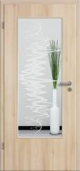 Tür CPL Akazie mit Sandstrahlmotiv SAND 37