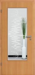 Tür Echtholz furniert Buche mit Sandstrahlmotiv SAND 37