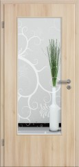 Tür CPL Akazie mit Sandstrahlmotiv SAND 38