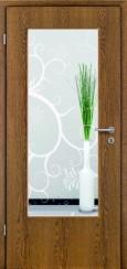Tür Echtholz furniert Eiche rustikal mit Sandstrahlmotiv SAND 38