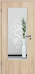Tür CPL Akazie mit Sandstrahlmotiv SAND 39