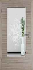 Tür CPL gebürstet Akazie Steingrau mit Sandstrahlmotiv SAND 39