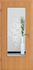 Tür Echtholz furniert Buche mit Sandstrahlmotiv SAND 39