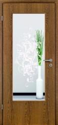 Tür Echtholz furniert Eiche rustikal mit Sandstrahlmotiv SAND 39