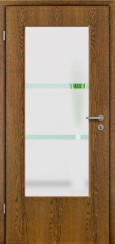 Tür Echtholz furniert Eiche rustikal mit Sandstrahlmotiv SAND 341