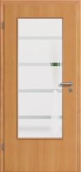 Tür Echtholz furniert Buche mit Sandstrahlmotiv SAND 48