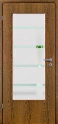 Tür Echtholz furniert Eiche rustikal mit Sandstrahlmotiv SAND 48