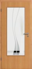 Tür Echtholz furniert Buche mit Sandstrahlmotiv SAND 51