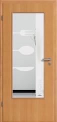 Tür Echtholz furniert Buche mit Sandstrahlmotiv SAND 52
