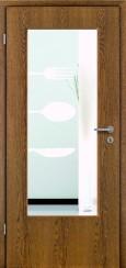 Tür Echtholz furniert Eiche rustikal mit Sandstrahlmotiv SAND 502