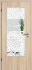 Tür CPL Akazie mit Sandstrahlmotiv SAND 513