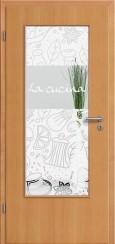 Tür Echtholz furniert Buche mit Sandstrahlmotiv SAND 53