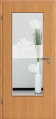 Tür Echtholz furniert Buche mit Sandstrahlmotiv SAND 57