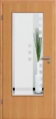Tür Echtholz furniert Buche mit Sandstrahlmotiv SAND 8