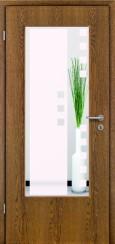 Tür Echtholz furniert Eiche rustikal mit Sandstrahlmotiv SAND 8