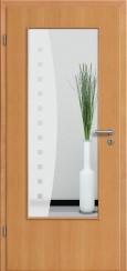 Tür Echtholz furniert Buche mit Sandstrahlmotiv SAND 9