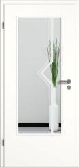 Tür weiß mit Sandstrahlmotiv SAND 10