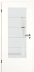 Tür weiß mit Sandstrahlmotiv SAND 18