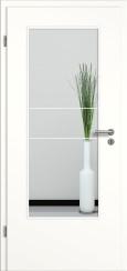 Tür weiß mit Sandstrahlmotiv SAND 21