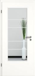Tür weiß mit Sandstrahlmotiv SAND 29