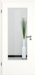 Tür weiß mit Sandstrahlmotiv SAND 3