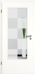 Tür weiß mit Sandstrahlmotiv SAND 30