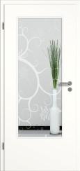 Tür weiß mit Sandstrahlmotiv SAND 38